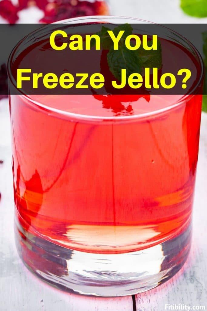 freeze jello