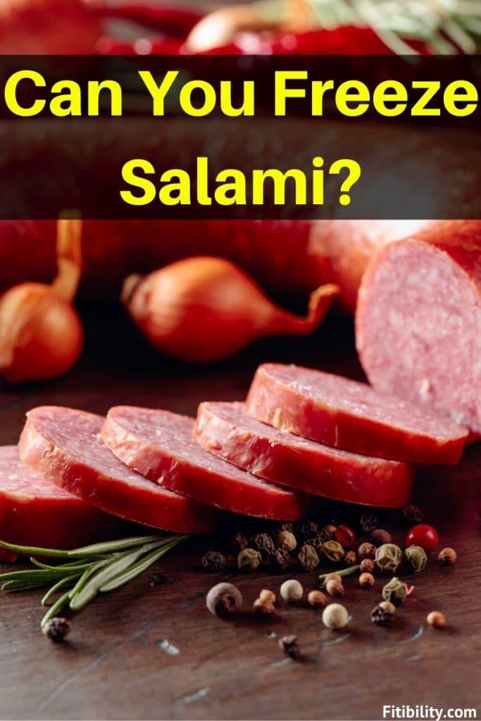 freeze salami