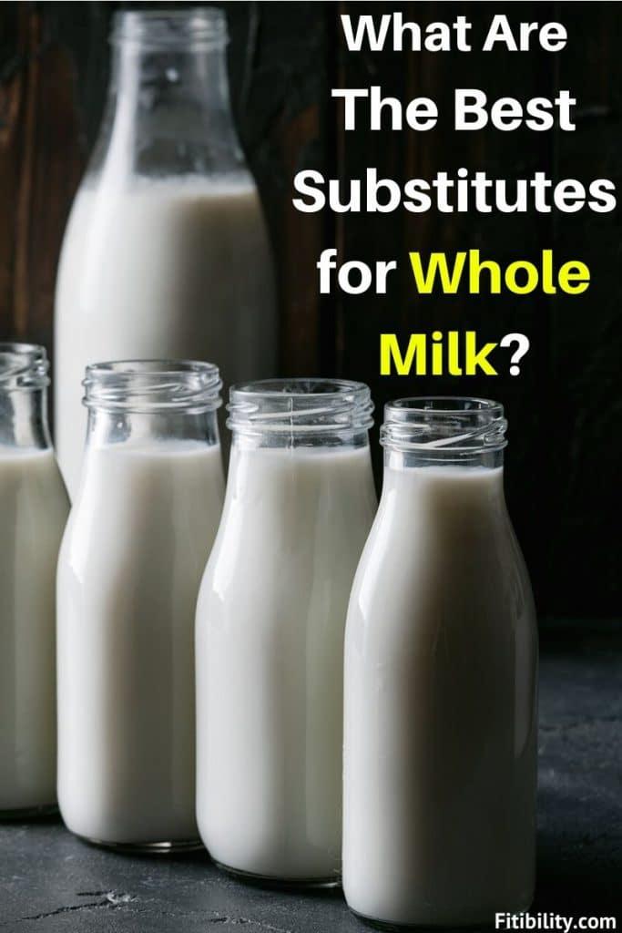 whole milk substitutes