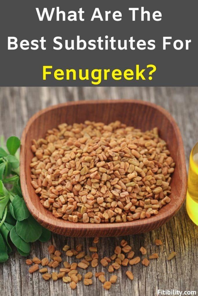 substitutes for fenugreek