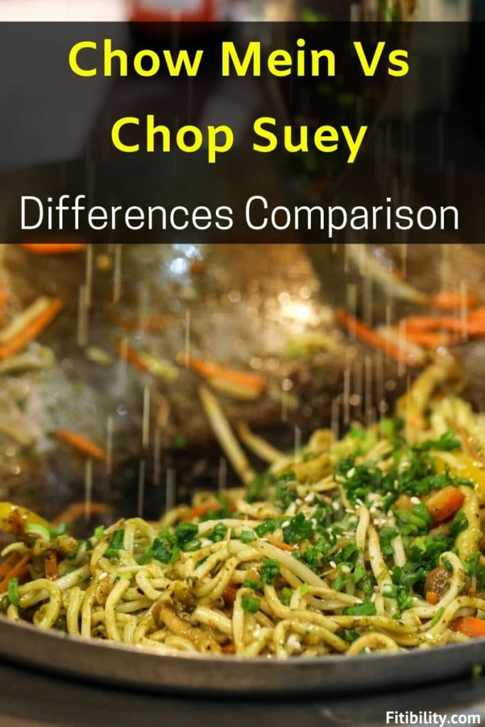 chop suey vs chow mein difference
