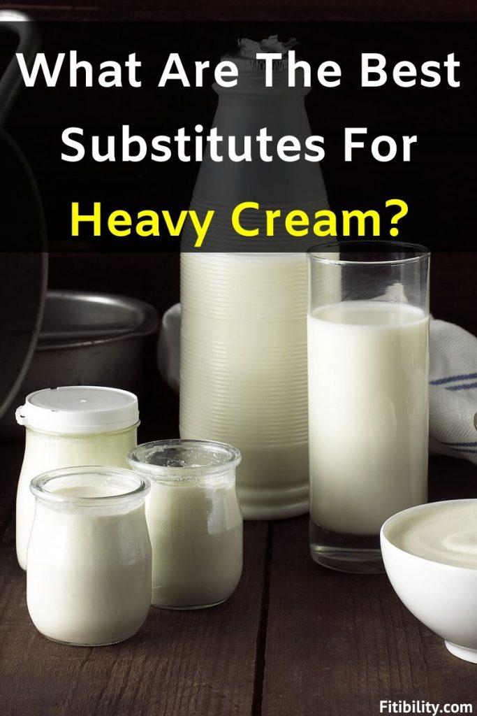 heavy cream substitutes