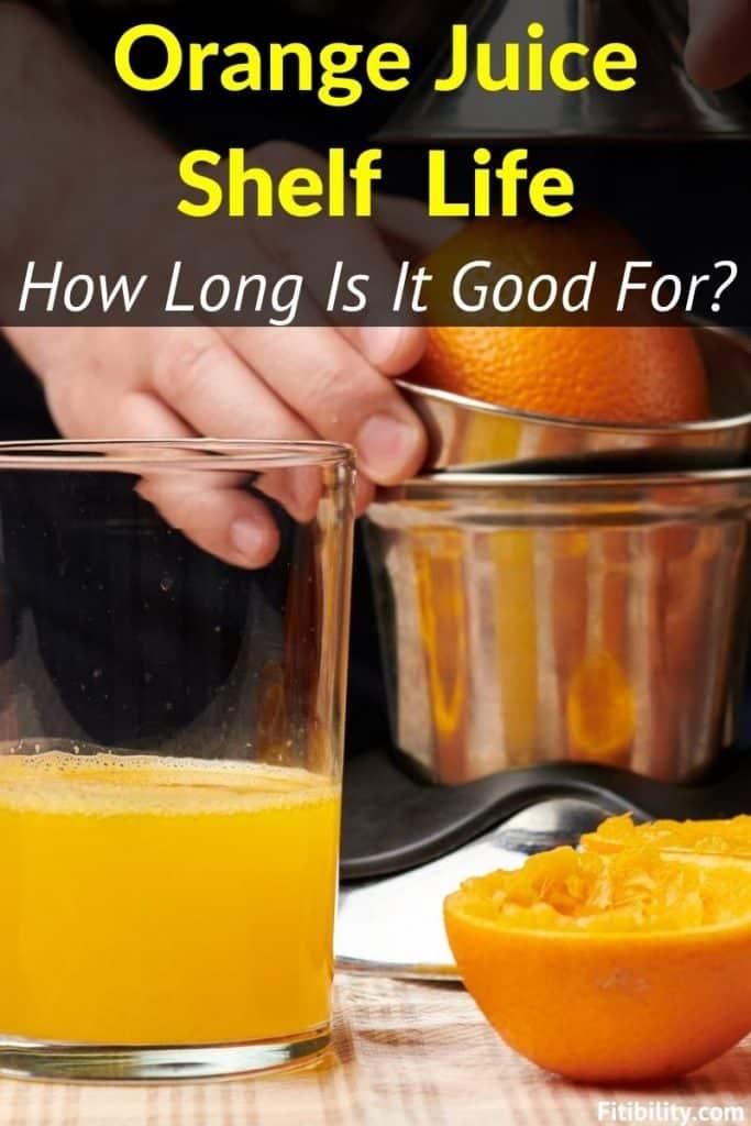 orange juice goes bad