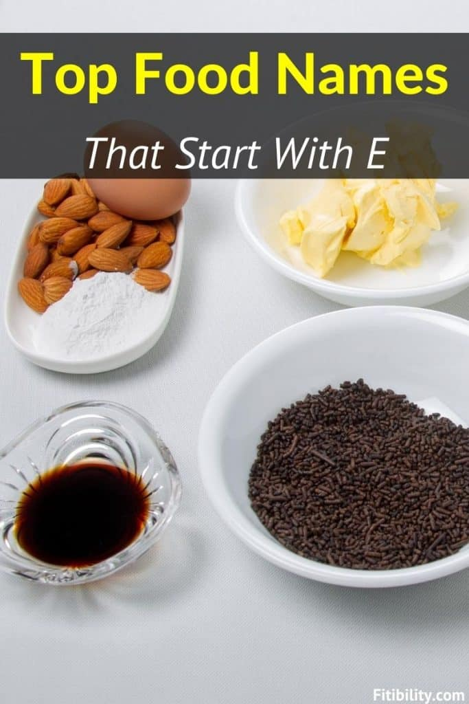food names begin with e