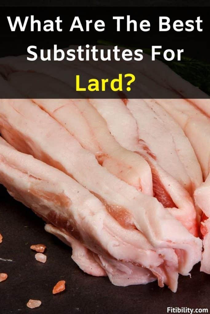 lard alternatives
