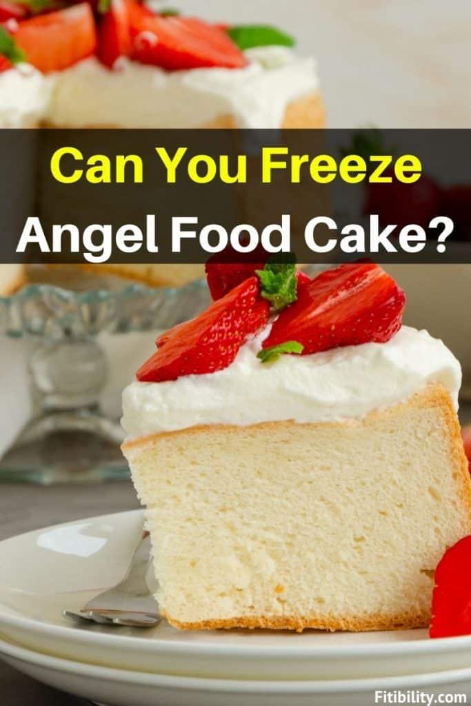 thaw frozen angel food cake