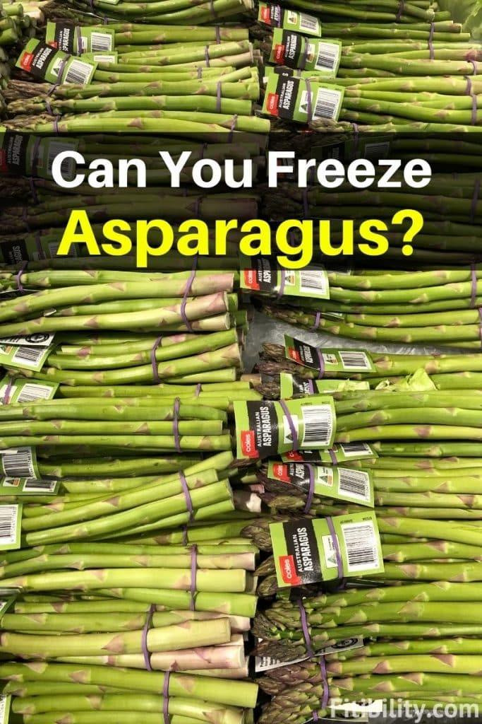 thaw frozen asparagus