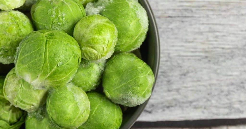freezing brussels sprouts