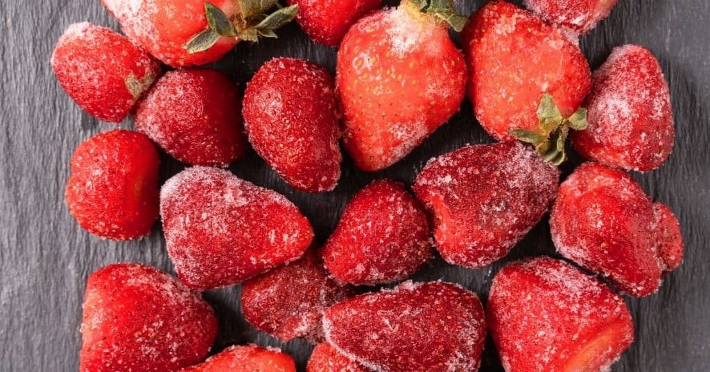 freeze strawberries